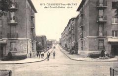 Champigny Sur Marne Rue Benoit Malon (cliché pas courant 94 Champigny-sur-Marne