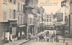 Fontenay Sous Bois La Place D'Armes (cliché pas courant 94 Fontenay-sous-Bois