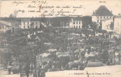 Saujon Place Du Champ De Foire (dos non divisé) - Saujon