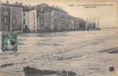 Agde Les Inondations Du 26 Septembre 1907 Quai De L'Est - Agde
