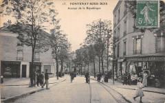 Fontenay Sous Bois Avenue De La Republique (cliché pas courant (Au Petit 94 Fontenay-sous-Bois