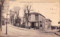 Fontenay Sous Bois L'Avenue De La Republique Et La Rue Gambetta (cliché p 94 Fontenay-sous-Bois