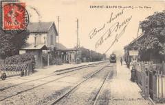 Ermont Halte La Gare (Train En Gare (voir verso - Ermont
