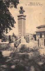 Millas Le Monument Aux Morts (cliché rare - Millas