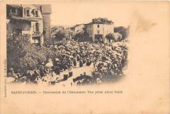 Saint Junien Procession De L'Ostension Vue Prise Place Saler (dos non div - Saint-Junien