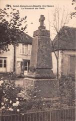 Saint Genest Sur Roselle Le Monument Aux Morts (cliché pas courant - Saint-Genest-sur-Roselle
