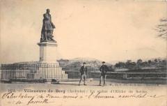 Villeneuve De Berg La Statue D'Olliviers De Serre (dos non divisé) Cliche - Villeneuve-de-Berg