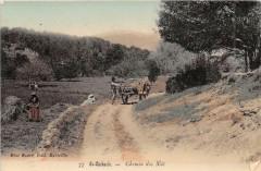 Saint Zacharie Chemin De Nai (cpa glacée cliché belle qualité - Saint-Zacharie