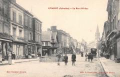 Livarot La Rue D'Orbec (cliché rare - Orbec
