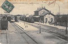 Argent Sur Sauldre Interieur De La Gare (Train - Argent-sur-Sauldre