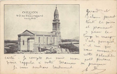 Orgon N.d.de Beauregard (dos non divisé) Timbre Type Sage Au Verso - Orgon