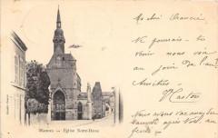 Mamers Eglise Notre Dame (dos non divisé) - Mamers