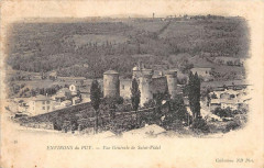 Env.du Puy Vue Generale De Saint Vidal (dos non divisé) - Saint-Vidal