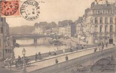 Pau Les Quatre Ponts Sur La Nive  (dos non divisé) - Pau