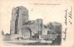 Donzy Ruines De L'Eglise De Donzy Le Pre (dos non divisé) - Donzy