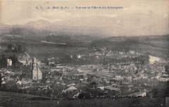 Nay Vue Sur La Ville Et Montagnes - Nay