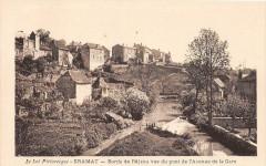 Gramat Bords De L'Alzou Vus Du Pont De L'Avenue De La Gare - Gramat