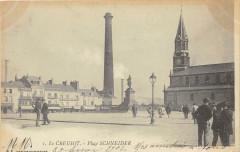 Le Creusot Place Schneider (dos non divisé) - Le Creusot