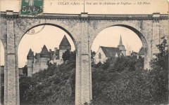Culan Vue Sur Le Chateau Et Eglise - Culan