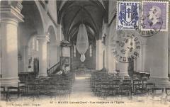 Maves Vue Interieure De L'Eglise - Maves