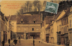 Ivry La Bataille Maison Henri Iv (cpa toilée émaillée - Ivry-la-Bataille