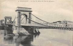 Beaucaire Le Pont Du Rhone Dit Pont De Beaucaire - Beaucaire