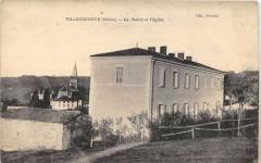 Villecheneve La Mairie Et Eglise - Villechenève