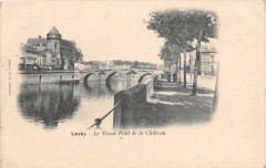Laval Le Vieux Pont Et Le Chateau (dos non divisé) - Laval