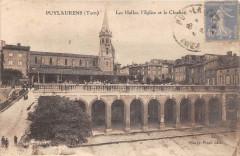 Puylaurens Les Halles Eglise Clocher - Puylaurens
