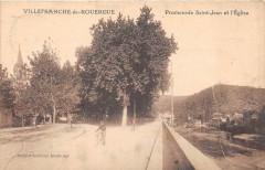 Villefranche De Rouergue Promenade Saint Jean Et Eglise - Villefranche-de-Rouergue
