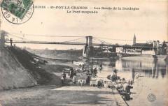 Sainte Foy La Grande Les Bords De La Dordogne Pont Suspendu - Sainte-Foy-la-Grande