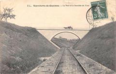 Sauveterre De Guyenne Le Pont Et La Tranchee Du - Sauveterre-de-Guyenne