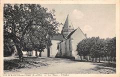 Villefranche Sur Cher La Place Eglise - Villefranche-sur-Cher