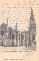 Langon Eglise St Gervais (dos non divisé) - Langon