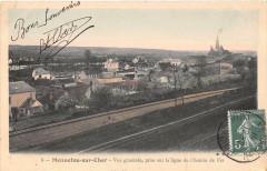 Mennetou Sur Cher Vue Generale Prise Ligne Chemin De Fer - Mennetou-sur-Cher