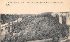 Culan Viaduc Du Chemin De Fer Route Montlucon - Culan