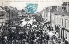Saint Hilaire Du Harcouet Vue Prise Un Jour De Marche De La Maison Marger - Ger