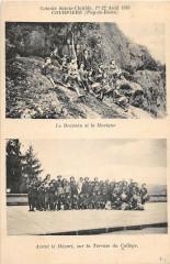 Courpiere Colonie Ste Clotilde 1910 Le Drapeau Et La Musique - Courpière