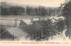 Courpiere Manufacture De Rubans Martourey Vue Generale (cpa pas courante - Courpière