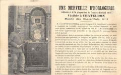 Une Merveille D'Horloge Visible A Chateldon Route Des Etats Unis - Châteldon