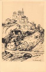 Cpa Illustrateur Saint Nectaire Dessin Clementel - Saint-Nectaire