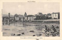 Vue Partielle De Coudes Et Les Bords De L'Allier - Coudes