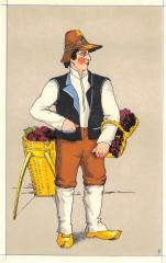 Cpa Illustrateur Basse Auvergne Vigneron De Chamalieres - Chamalières