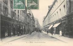 Paris IIIe Rue Des Saint Peres  (dos non divisé) - Paris 3e