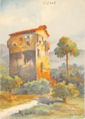 Cpa Illustrateur La Tour Des Danis Au Cannet - La Tour