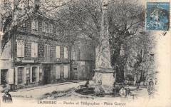 Lambesc Postes Et Telegraphes Place Carnot - Lambesc
