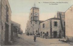 Villeneuve De La Raho La Grand'Rue (cpa animée - Villeneuve-de-la-Raho