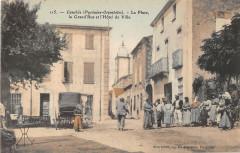 Canohes La Place La Grand'Rue Hotel De Ville - Canohès