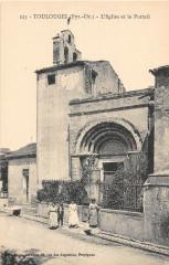 Toulouges L'Eglise Et Le Portail - Toulouges