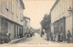 Marciac Rue Du Houga (cpa pas courante - Marciac